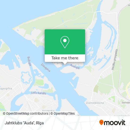 "Jahtklubs ""Auda"" map"