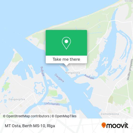 MT Osta, Berth MS-10 map