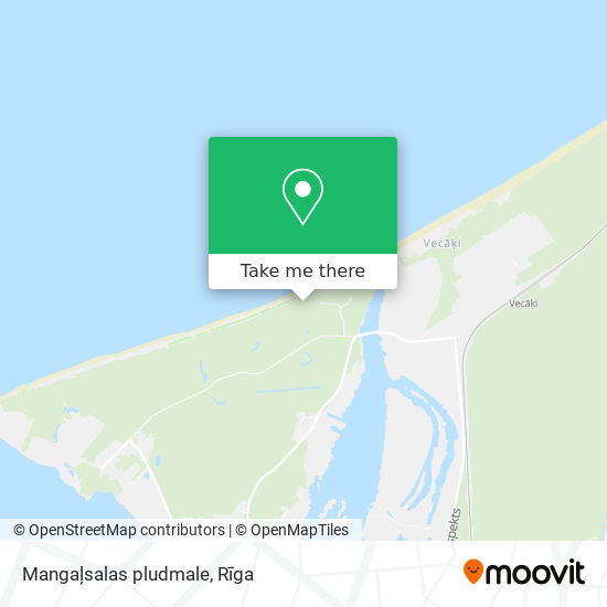 Mangaļsalas pludmale map