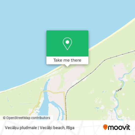 Vecāķu pludmale | Vecāķi beach map