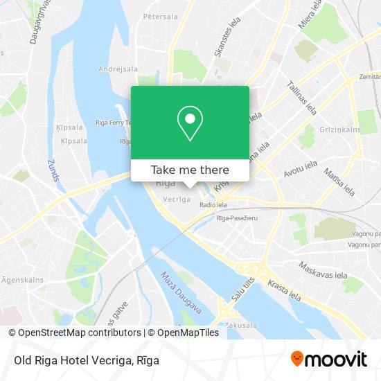 Old Riga Hotel Vecriga map