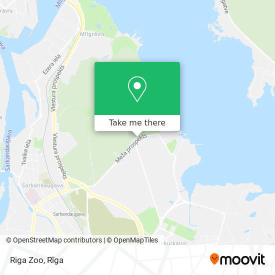 Riga Zoo map
