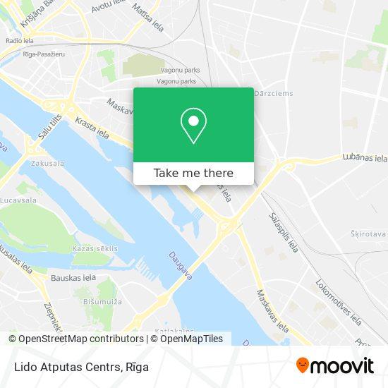Lido Atputas Centrs map