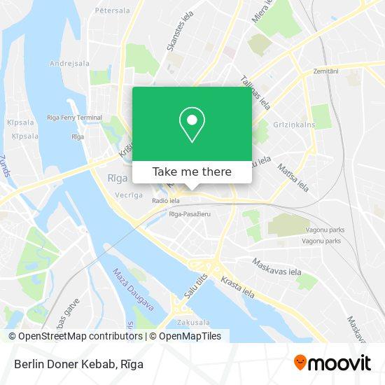 Berlin Doner Kebab map