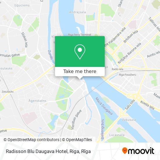 Radisson Blu Daugava Hotel, Riga map