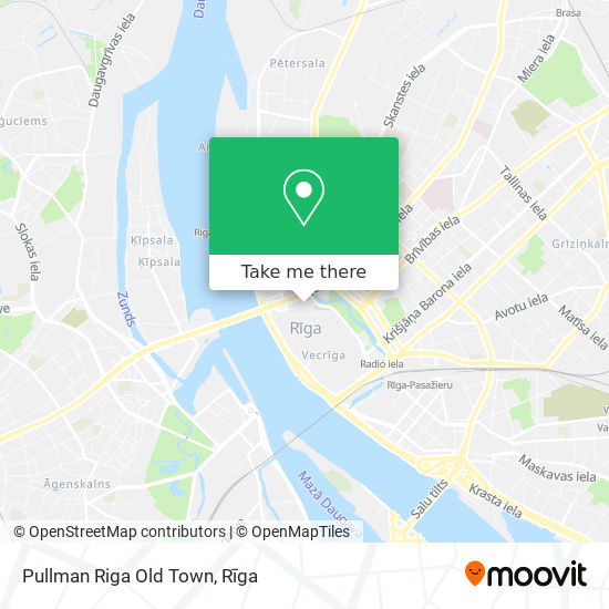 Pullman Riga Old Town map