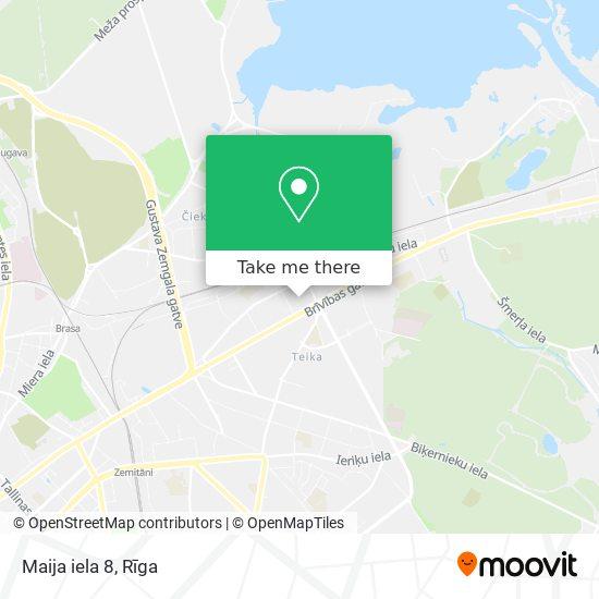 Maija iela 8 map