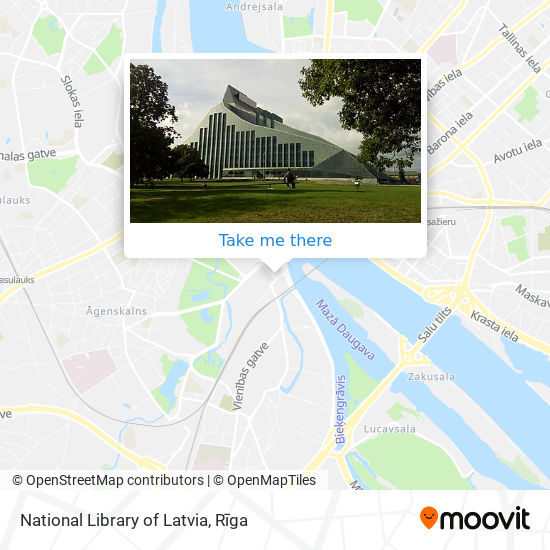 National Library of Latvia map