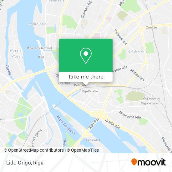 Lido Origo map