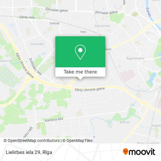 Lielirbes iela 29 map