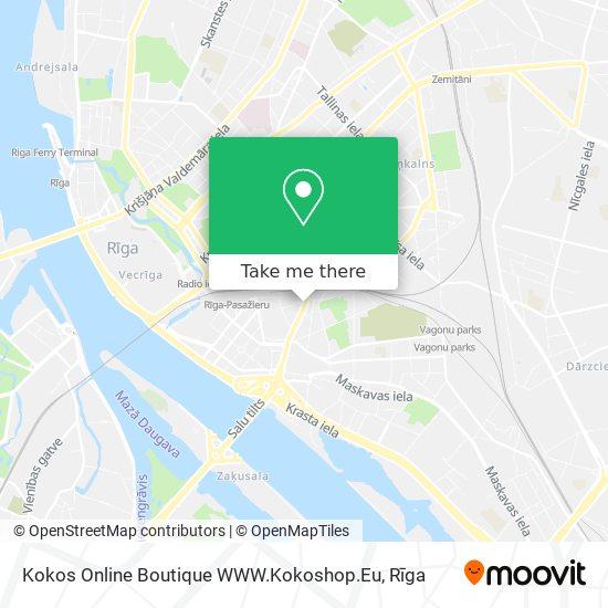 Kokos Online Boutique WWW.Kokoshop.Eu map