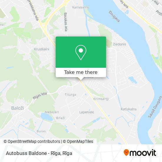 Autobuss Baldone - Rīga map