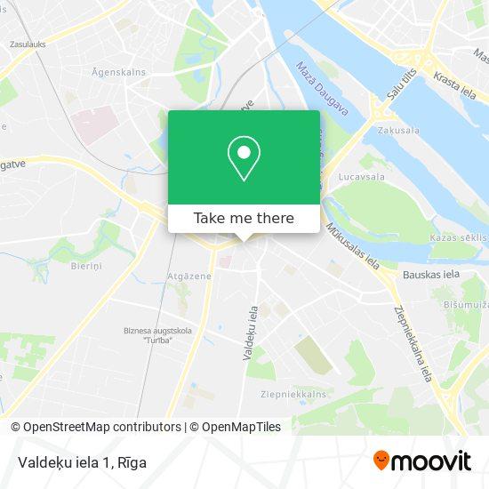 Valdeķu iela 1 map