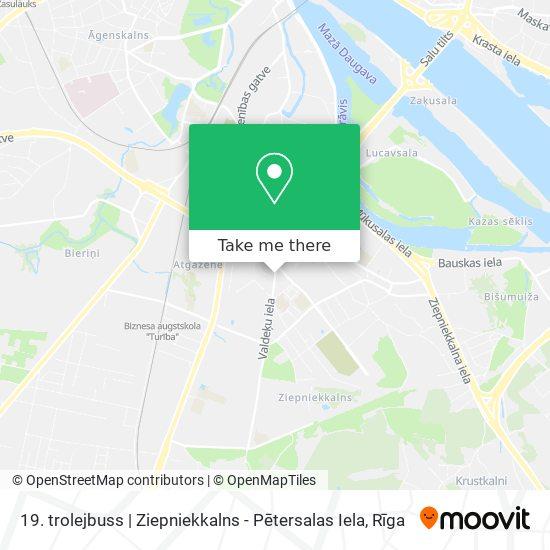19. trolejbuss   Ziepniekkalns - Pētersalas Iela map