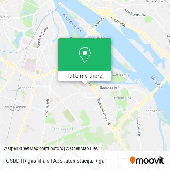 CSDD | Rīgas filiāle | Apskates stacija map
