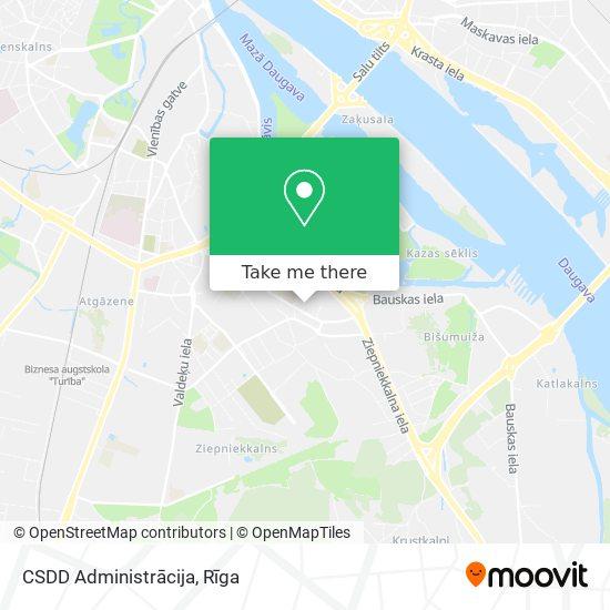 CSDD Administrācija map