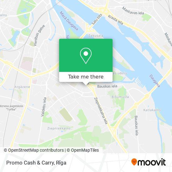 Promo Cash & Carry map