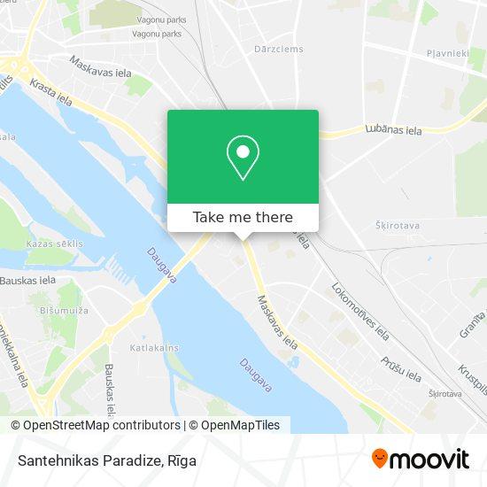 Santehnikas Paradize map