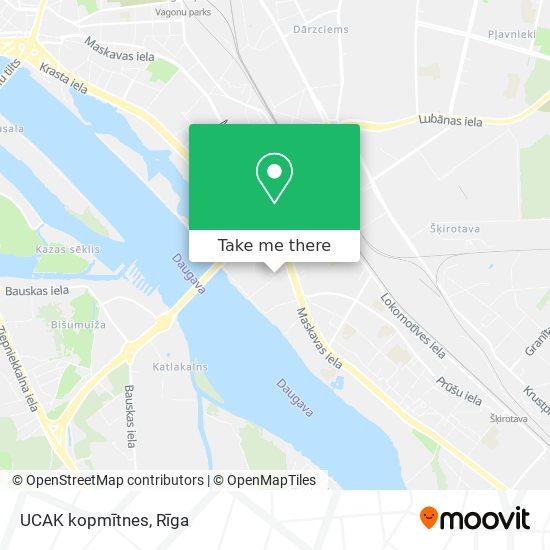 UCAK kopmītnes map