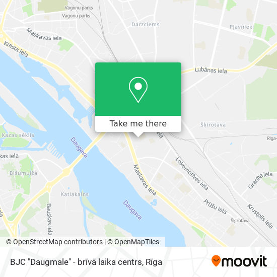 "BJC ""Daugmale"" - brīvā laika centrs map"