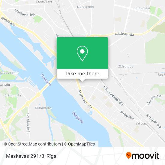 Maskavas 291/3 map