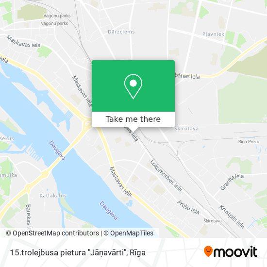 "15.trolejbusa pietura ""Jāņavārti"" map"