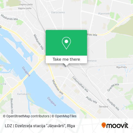 """LDZ   Dzelzceļa stacija """"Jāņavārti"""" map"""