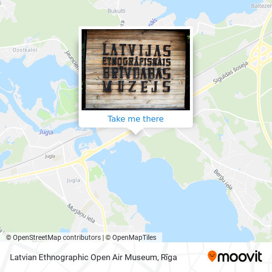 Latvian Ethnographic Open Air Museum map