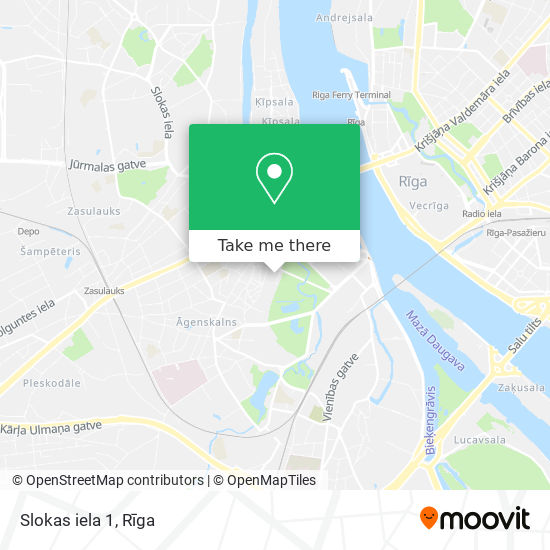 Slokas iela 1 map
