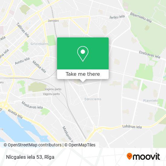 Nīcgales iela 53 map