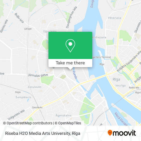 Riseba H2O Media Arts University map
