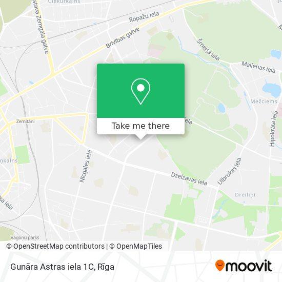 Gunāra Astras iela 1C map