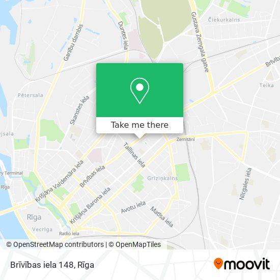 Brīvības iela 148 map