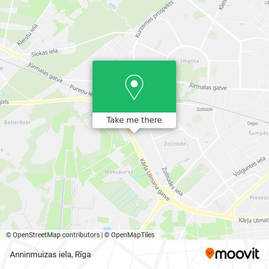 Anninmuizas iela map