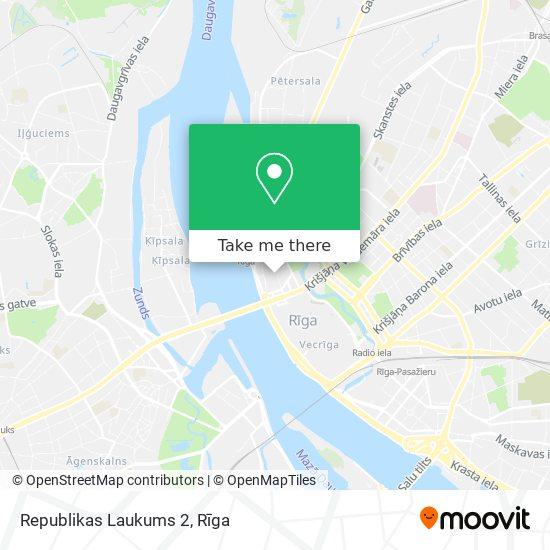 Republikas Laukums 2 map