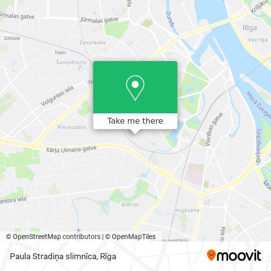 Paula Stradiņa slimnīca map