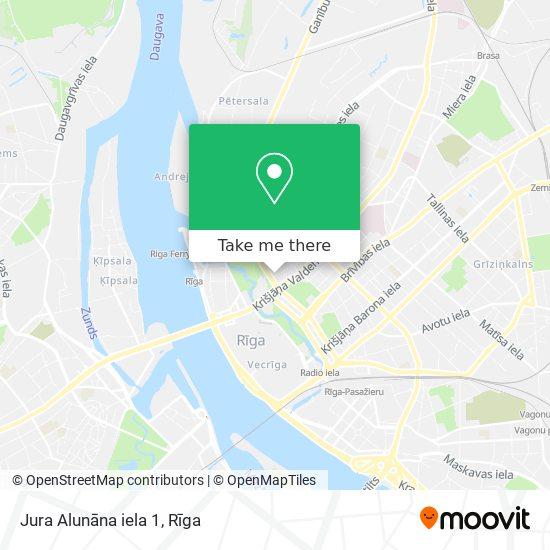 Jura Alunāna iela 1 map