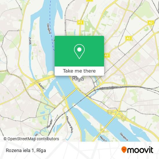 Rozena iela 1 map