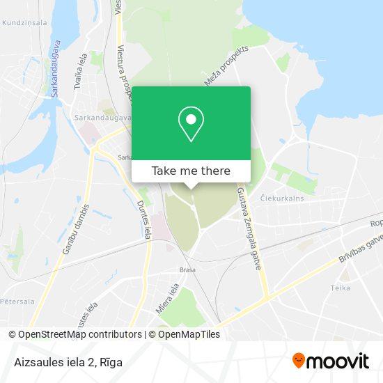 Aizsaules iela 2 map