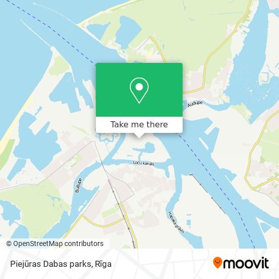 Piejūras Dabas parks map