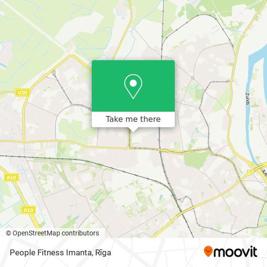 People Fitness Imanta map
