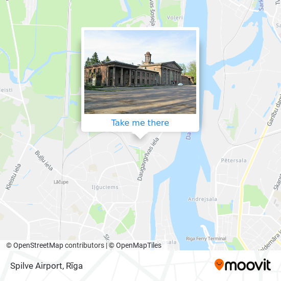 Spilve Airport map