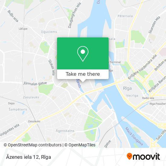 Āzenes iela 12 map