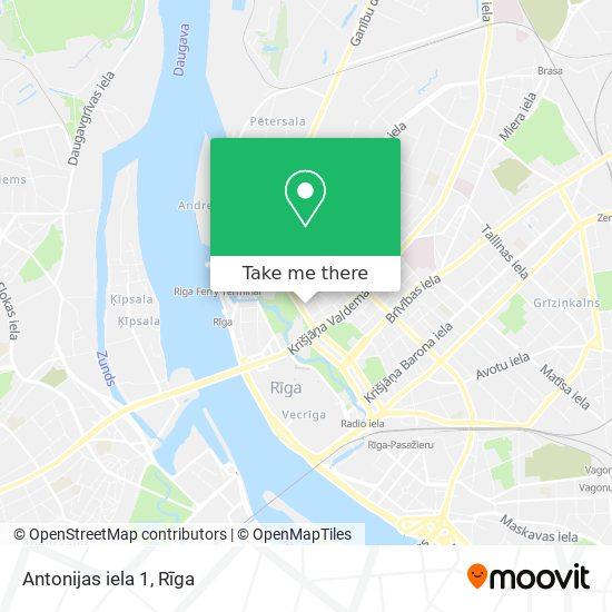 Antonijas iela 1 map