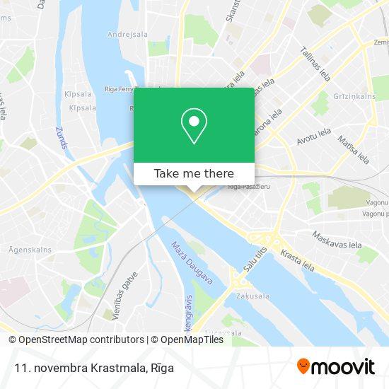 11. novembra Krastmala map