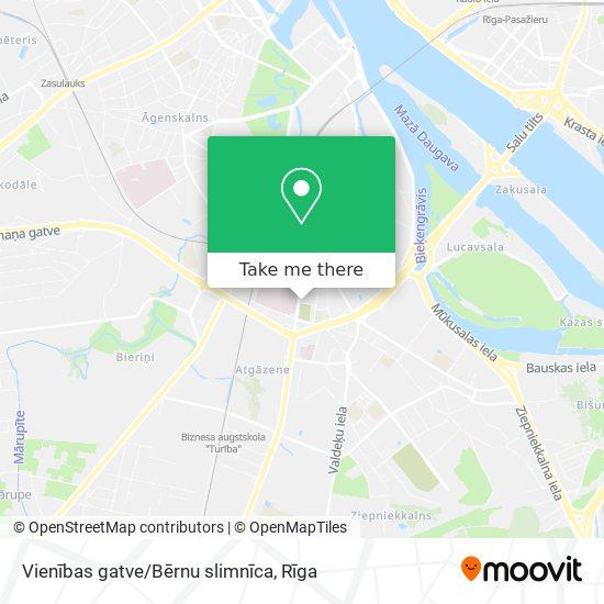 Vienības gatve/Bērnu slimnīca map