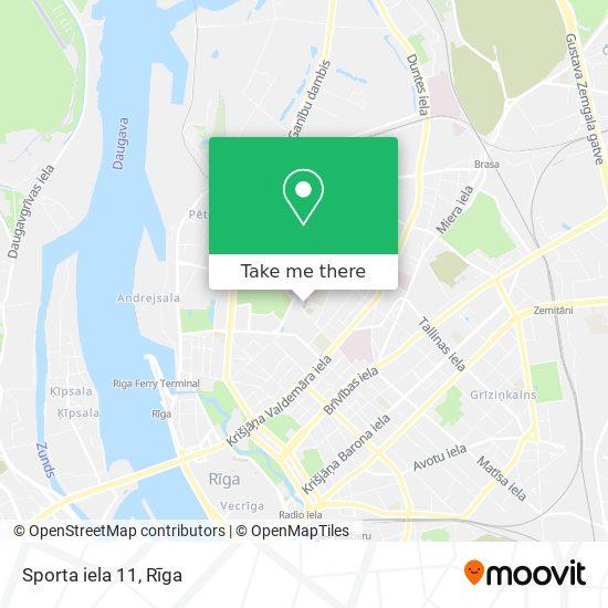 Sporta iela 11 map