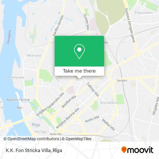 K.K. Fon Stricka Villa map