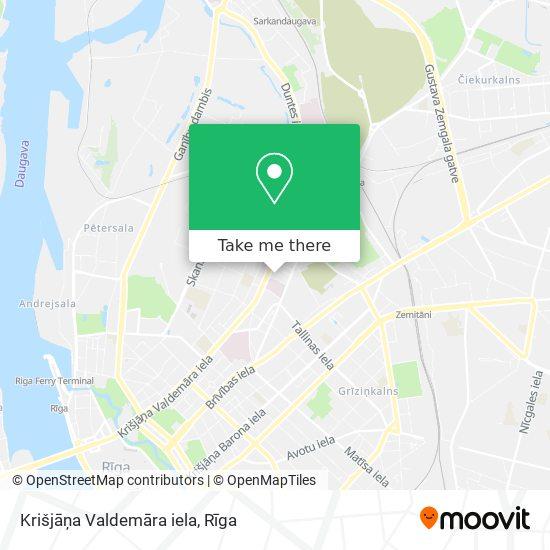 Krišjāņa Valdemāra iela map