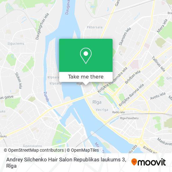 Andrey Silchenko Hair Salon Republikas laukums 3 map
